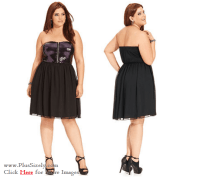 Junior Plus Size Clubwear Dresses Black Junior Plus Size