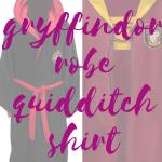 Plus Size Gryffindor Robe Quidditch Shirt