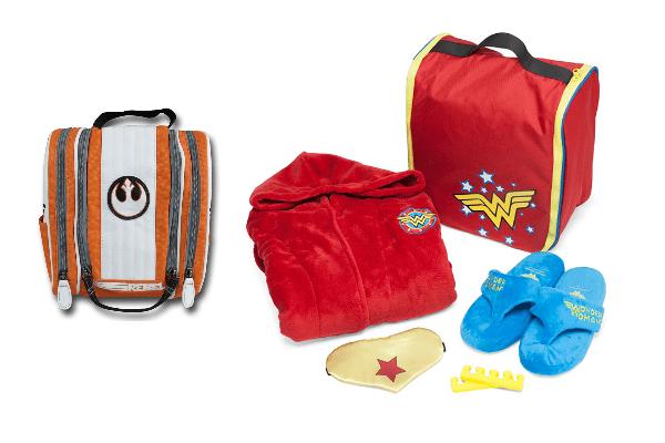 Rebel Alliance Toiletries Bag and Wonder Woman Spa Kit