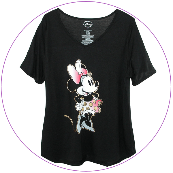 Plus Size Minnie Black Pink Shirt