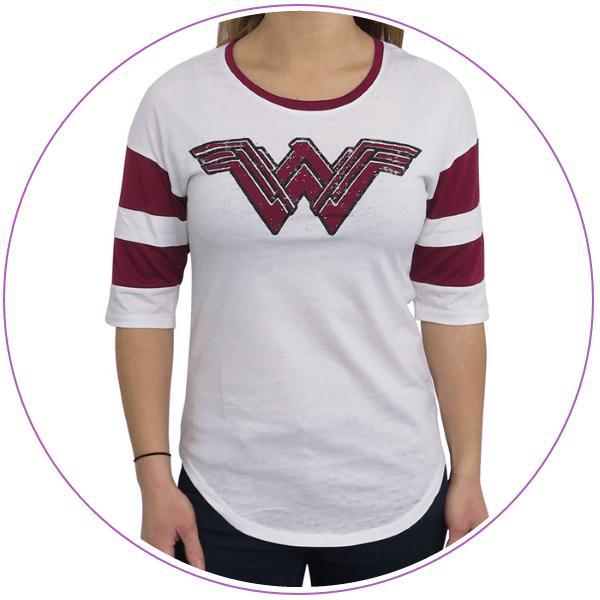 Plus Size Wonder Woman Logo Raglan Tee