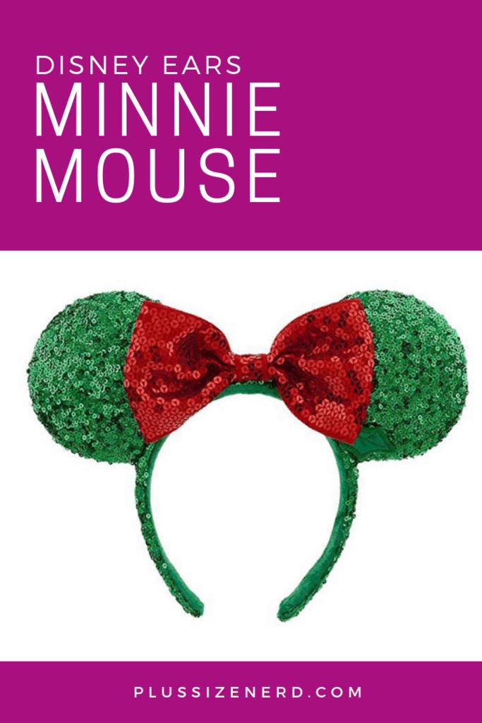 I Heart My Holly Jolly Minnie Mouse Ears
