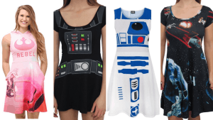 Collage of Plus Size Star Wars Dresses