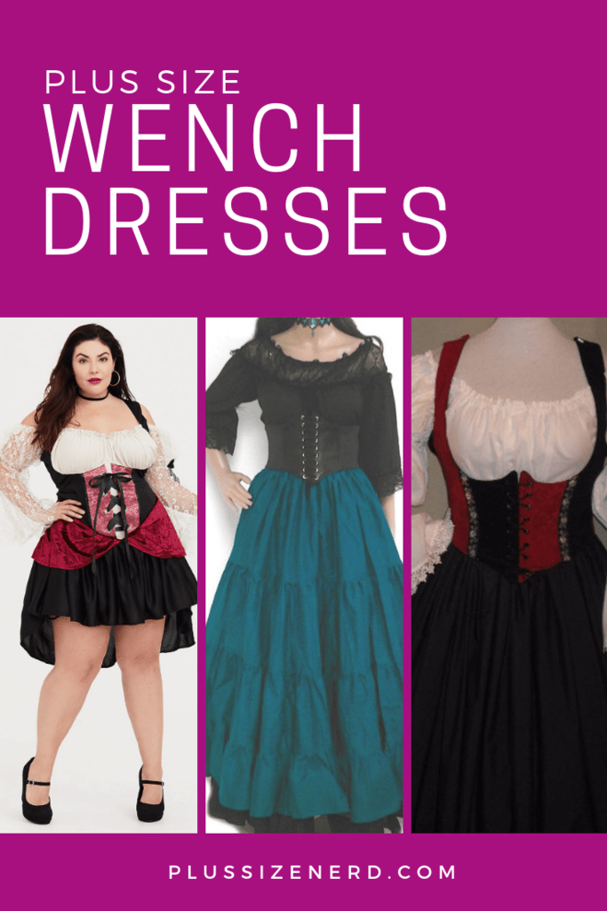 Photo collage of tavern wench dresses