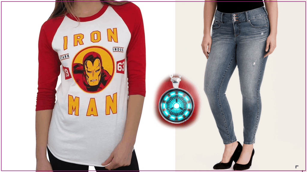 Plus Size Iron Man Styled Outfit