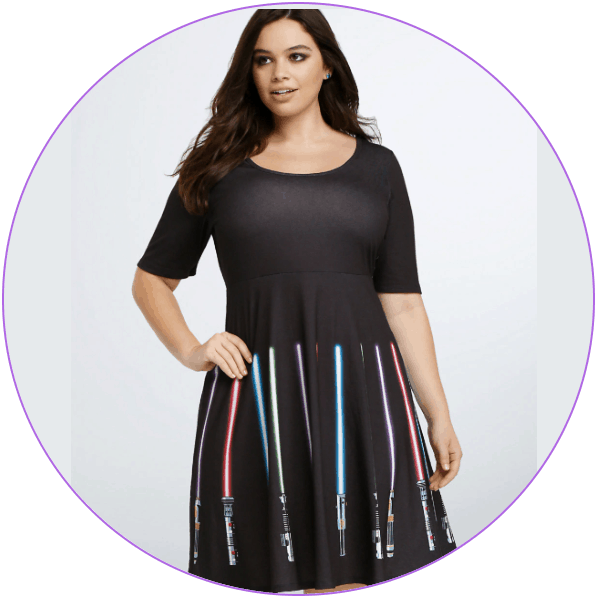 Plus Size Light Saber Dress