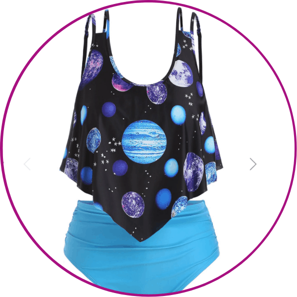 Plus Size Planets Swimsuit