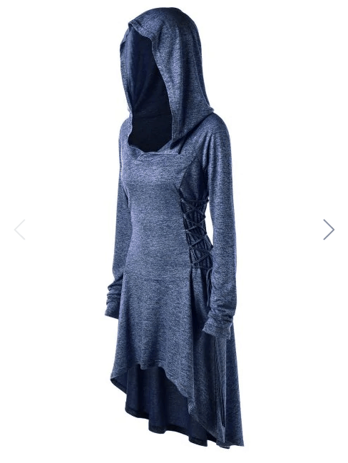 Plus Size Hi Low Witch or Wizard Hoodie Cloak