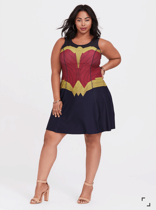 Plus Size Wonder Woman Dress
