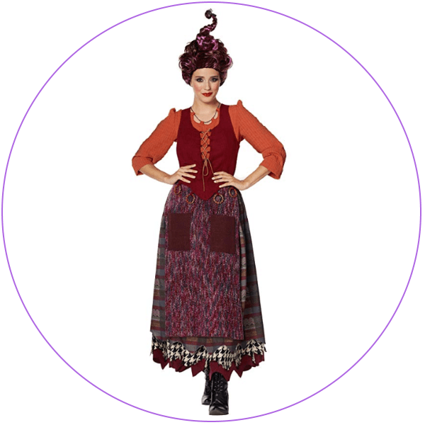 Mary Sanderson Tee Shirt Costume Women Disney Hocus Pocus Small