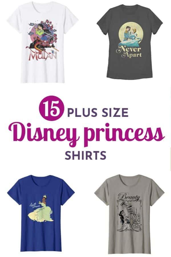 Plus Size Disney Princess Shirts