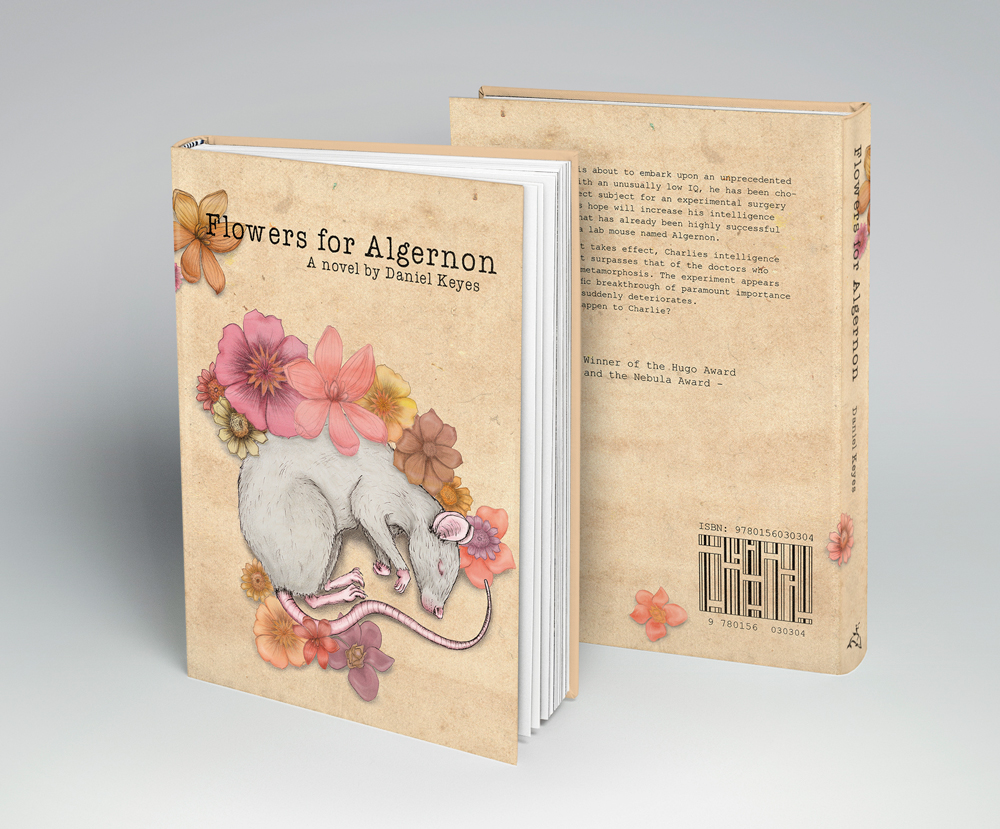 Bookcover design - Flowers for Algernon