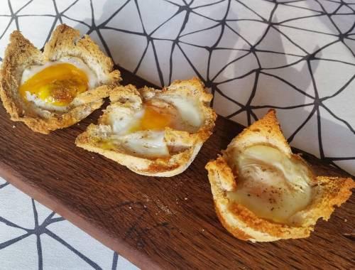 Last Week I made eggs in a basket!
