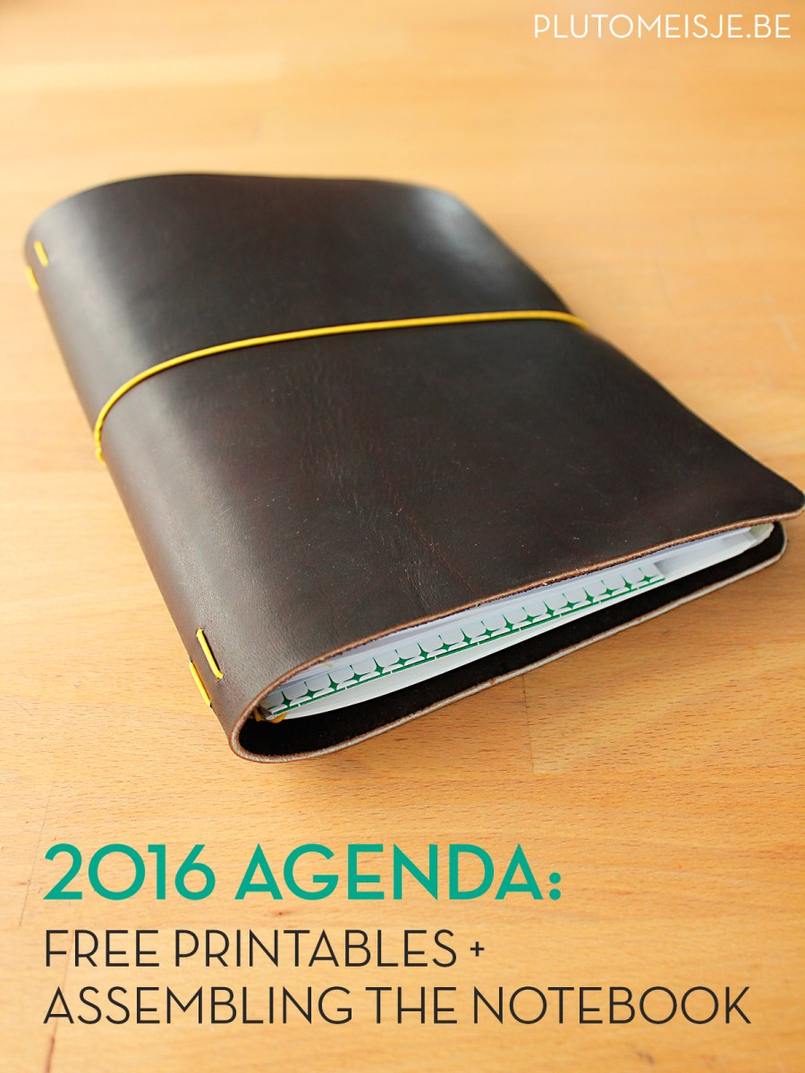 2016 agenda: the printables and assembling your notebook