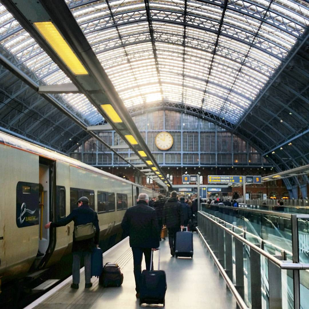 London citytrip - Arriving at St. Pancras station by Eurostar train