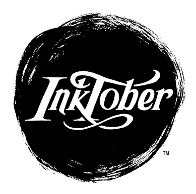 The InkTober logo (a dark ink blot with the word InkTober left out in white)