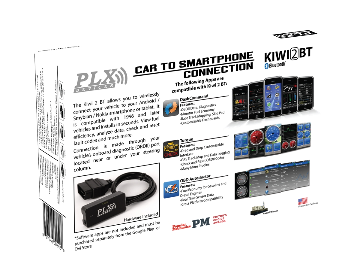 Kiwi 2 OBD2 OBDII Wireless Bluetooth Diagnostic Scanner