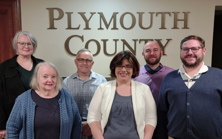 Photo of the Plymouth County Democrats officers, March 2021