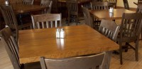 Wood Restaurant Table Tops | Wood Restaurant Tables, Solid ...