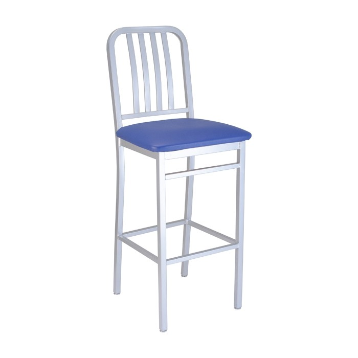 steel vinyl chair bedroom reading tahoe metal barstool with upholstered seat restaurant furniture commercial bar plymold essentials