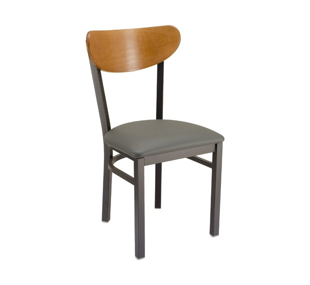 metal restaurant chairs intex air chair park avenue kidneyback with upholstered seat commercial bar furniture plymold essentials