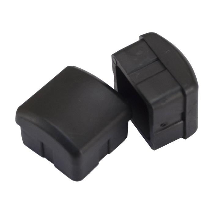 plastic inserts for metal chair legs universal spandex covers canada 1 25 black glide restaurant glides leg caps plymold essentials