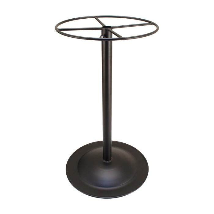 Outdoor Bar Height Spun Metal Table Base  Small