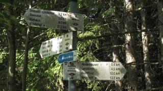 Wegweiser bei Waldhöfe