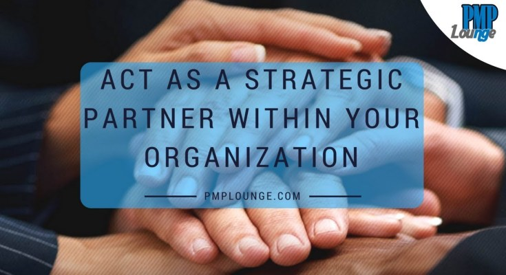 act as a strategic partner within your organization - Act as a Strategic Partner within your Organization