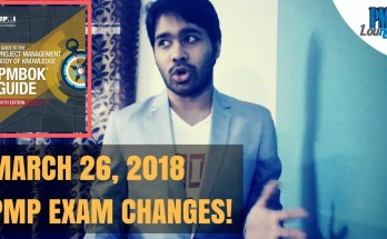 pmp exam changes 2018 - PMP Exam Changes on Mar 26, 2018!