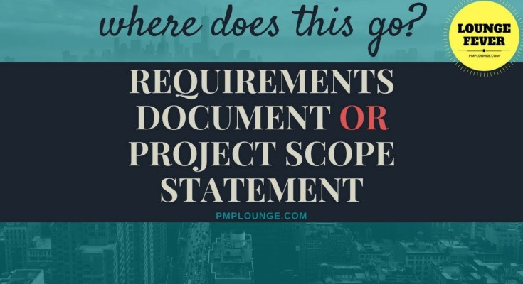 requirements doc or project scope statement - Requirements Document or Project Scope Statement | Where do these items go?