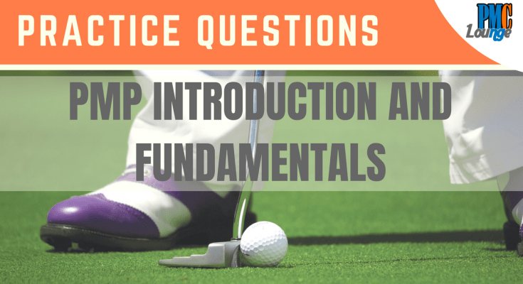 pmp introduction and fundamentals practice questions - PMP Introduction and Fundamentals - Practice Questions