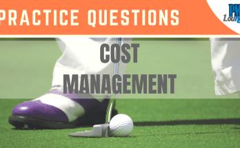 cost management practice questions