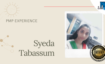 syeda tabassum pmp experience - PMP Experience - Syeda Tabassum