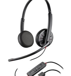 plantronics blackwire binaural headset with 3 5mm usb c325 1 or c325 1 m [ 1091 x 1500 Pixel ]