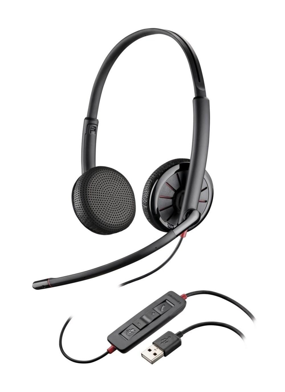 medium resolution of  plantronics blackwire binaural headset with 3 5mm usb c325 1 or c325 1 m