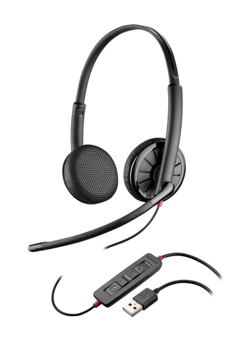 small resolution of  plantronics blackwire binaural headset with 3 5mm usb c325 1 or c325 1 m