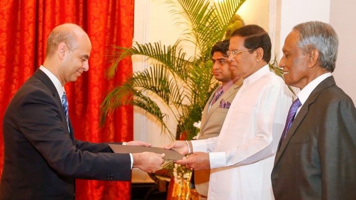 Five new envoys present credentials to President