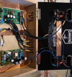 the line stage is a simple current sourced grounded cathode amp using ecc99 tubes i added some feedback to get the gain down to about 12db  [ 3648 x 2736 Pixel ]