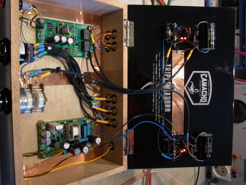 small resolution of the line stage is a simple current sourced grounded cathode amp using ecc99 tubes i added some feedback to get the gain down to about 12db