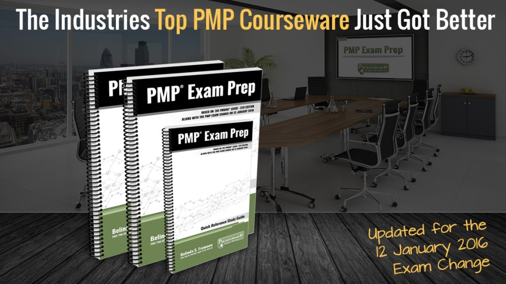 PMP Exam Prep Courseware for the 12 Jan Changes