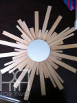 diy sunburst mirror with balsam wood