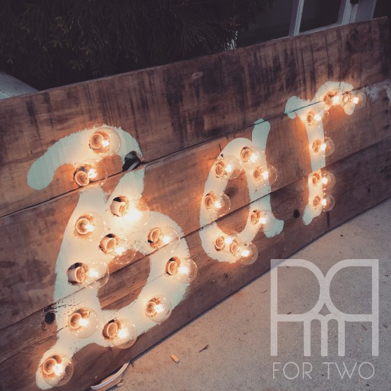 DIY marquee lights sign 4