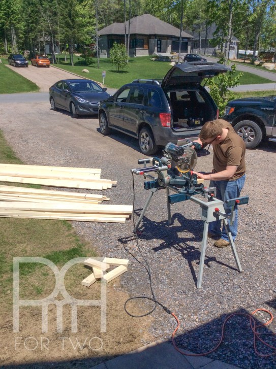 harvest table DIY cutting lumber