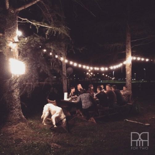 backyard dinner outdoor