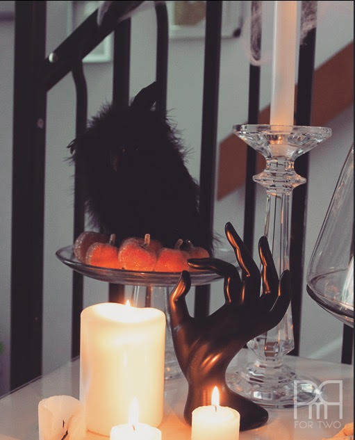 halloween entryway decor  with owl