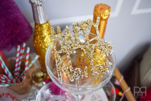 champagne glam happy  new year