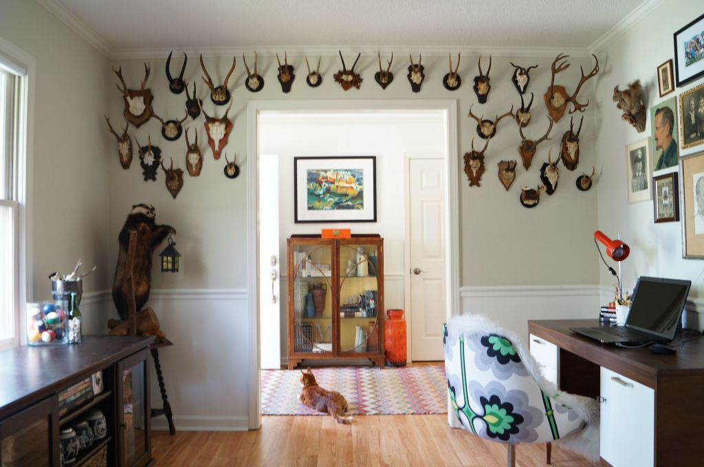 The Military Man Cave feature wall