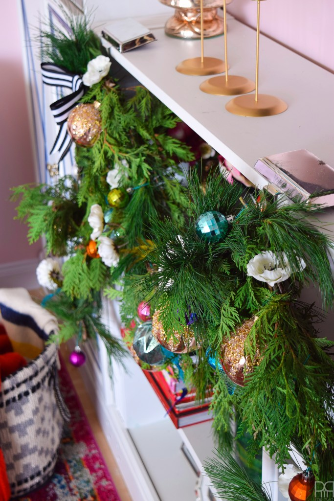 Shelfies are the best place for Christmas ornaments and nutcrackers, right? Come see an eclectic and bold Christmas home tour, full of unexpected and traditional touches.