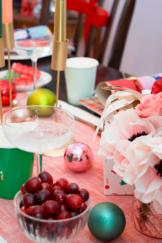 A bright and colourful Christmas tablescape and eclectic house tour. Mix and match your patterns and colours for a cozy and whimsical decor style this holiday season.